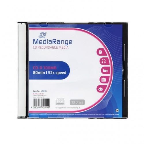 CD-R Mediarange 700 MB Slim, 10/1