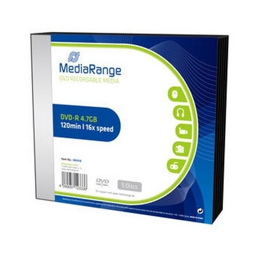DVD-R Mediarange 4,7GB slim, 5/1