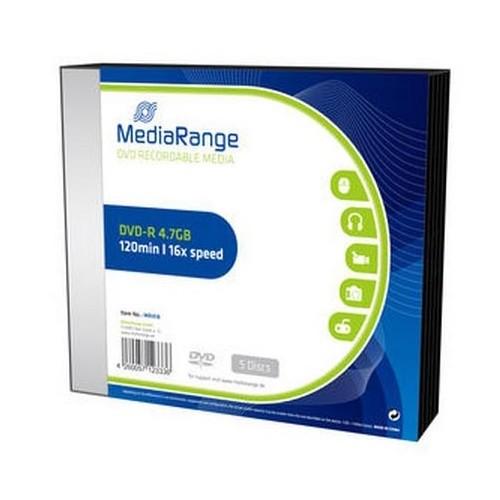 DVD-R Mediarange 4,7GB slim, 5/1