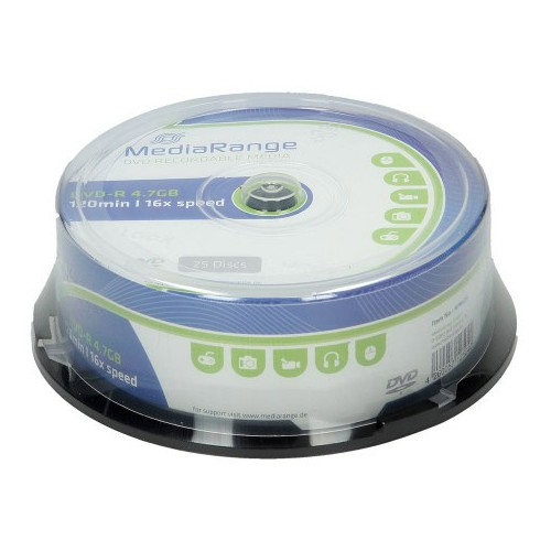 DVD-R Mediarange 4,7 GB - 25/1