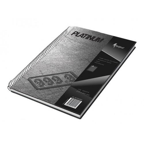 Spiralna bilježnica Platinum A4, mali karo uzorak