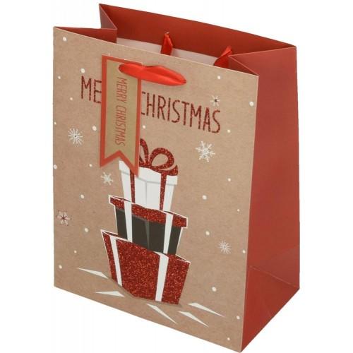Darovna vrećica Delux Merry Xmass, srednja