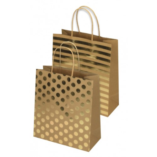 Darovna vrećica Eco Gold, srednja
