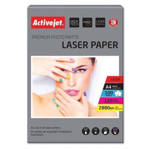Foto papir Activejet A4 Laser Mat 110 g, 100/1