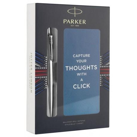 Poklon set Parker Jotter (kemijska olovka + blok)