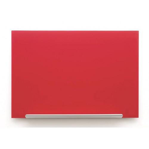 Crvena staklena magnetna ploča Nobo Diamond 99,3 x 55,9 cm