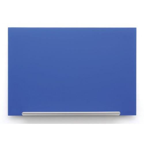 Plava staklena magnetna ploča Nobo Diamond 99,3 x 55,9 cm