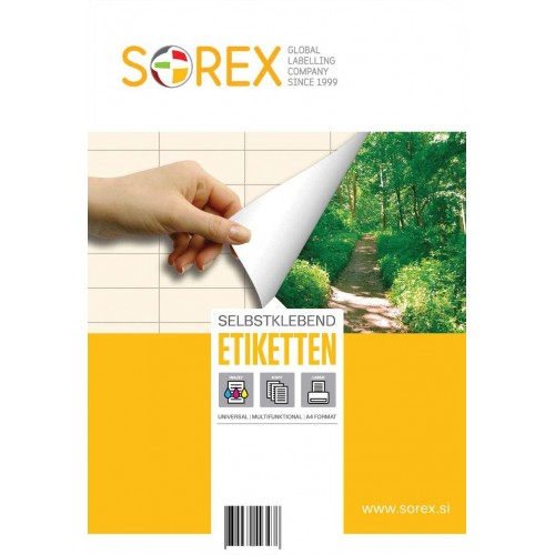 Etikete Sorex 70 x 42,3 mm, 100/1
