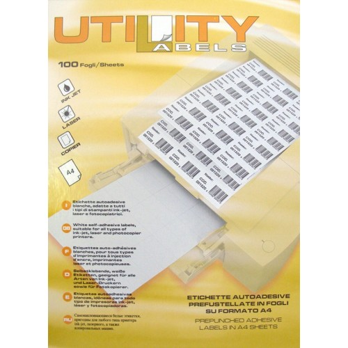 Etikete Utility 48,5 x 16,9 mm