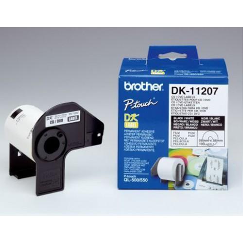 Naljepnice za QL pisače Φ 58 mm, naljepnice za CD/DVD