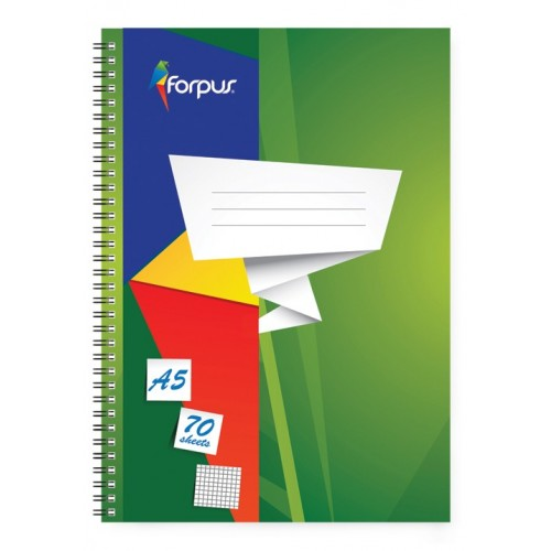 Spiralna bilježnica Forpus A5, mali karo