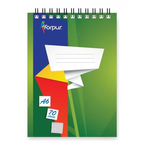 Spiralna bilježnica Forpus A6, mali karo uzorak
