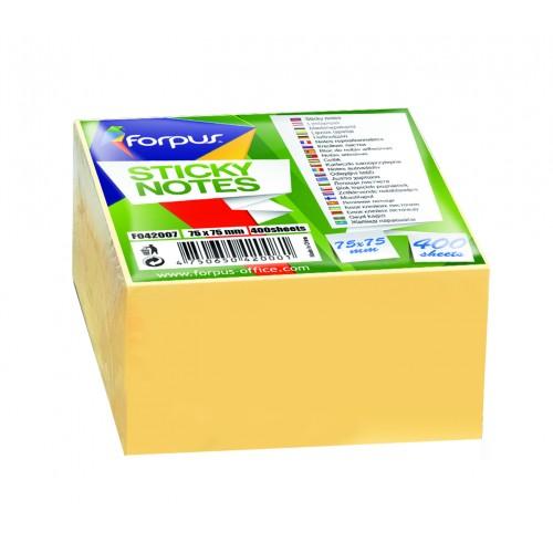 Samoljepiva blok kocka 75 x 75 mm, žuta