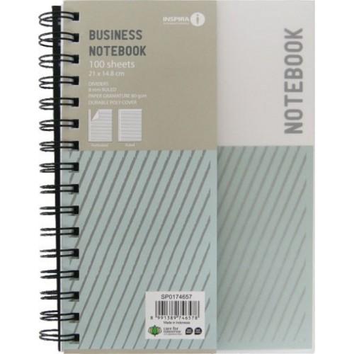 Bilježnica sa spiralom Inspira A4, sa crtama