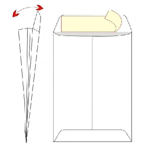 Ispružite 4cm na rubovima do dna (dno je zalijepljeno zajedno)