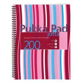 Bilježnica sa spiralnim uvezom Pukka Pad Stripes, A4 sa crtama