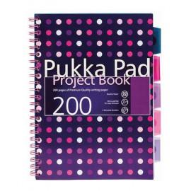 Spiralna bilježnica Pukka Project Book Dots, A4 crte