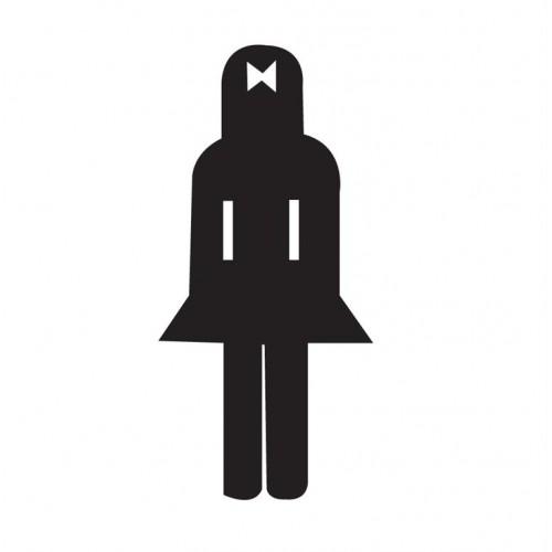 Naljepnica – ženski WC