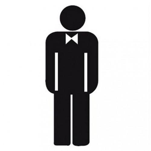 Naljepnica – muški WC