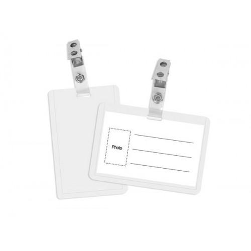 Identifikacijska kartica s clip kopčom 90 x 55 mm, vertikalna