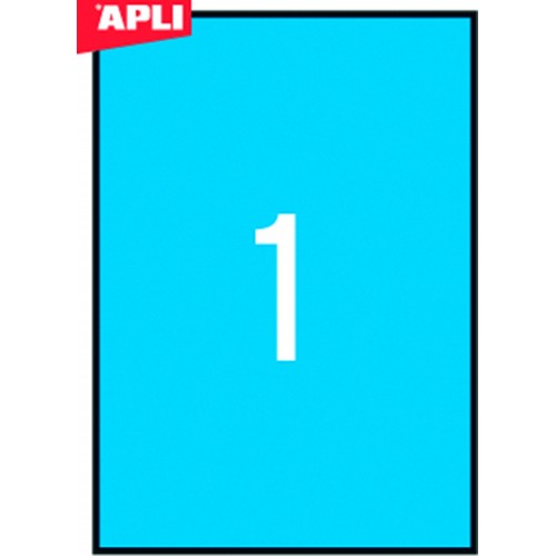 Etikete Apli 210 x 297 mm, 20/1 (plave)