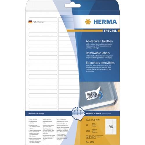 Etikete Herma No. 4202 - 63 x 8,5 mm