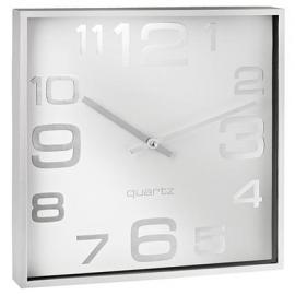ALCO Stenska ura, kvadratna, bela