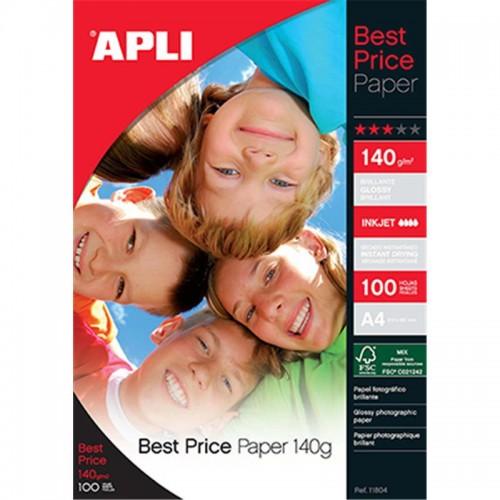 Foto papir APLI A4 - 140 g, 100 listova