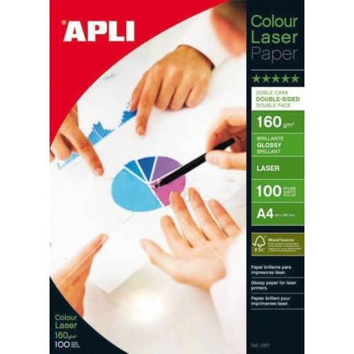 Foto papir APLI A4 Laser Glossy - 160 g,  100 listova